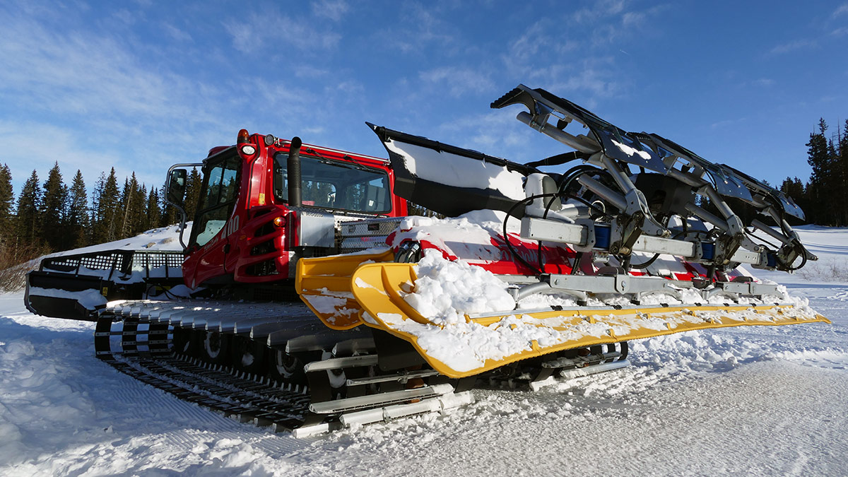 PistenBully, a $300,000 world-cup level groomer used by GMNC to groom cross country ski trails.