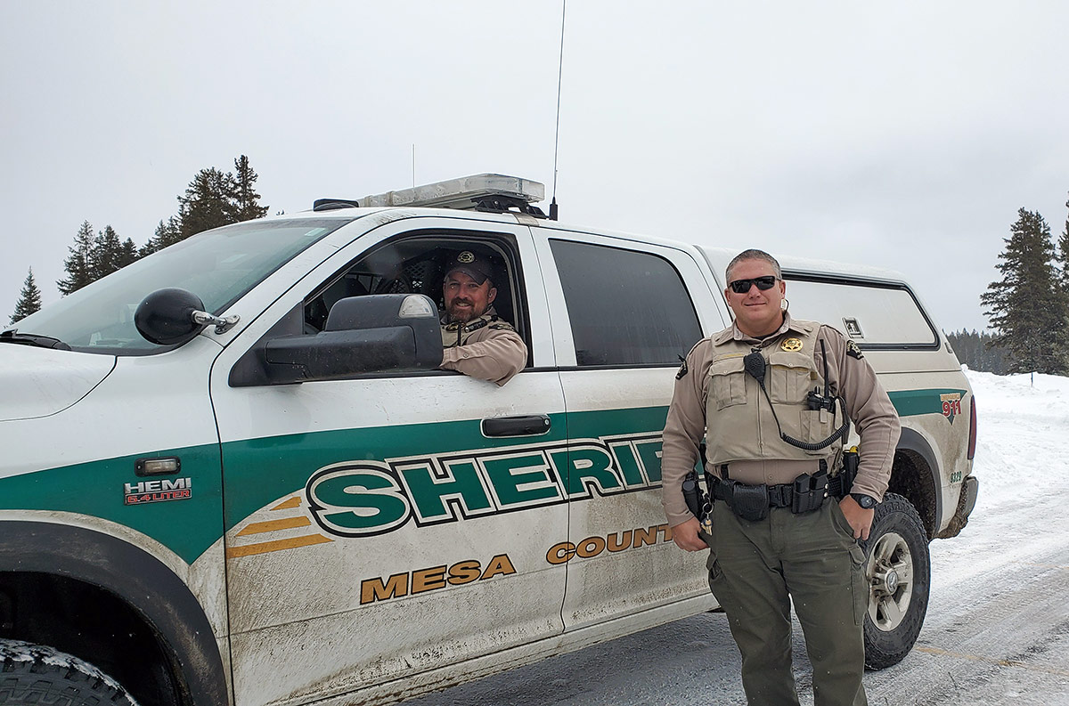 Mesa County Sheriff's Office on patrol on Grand Mesa