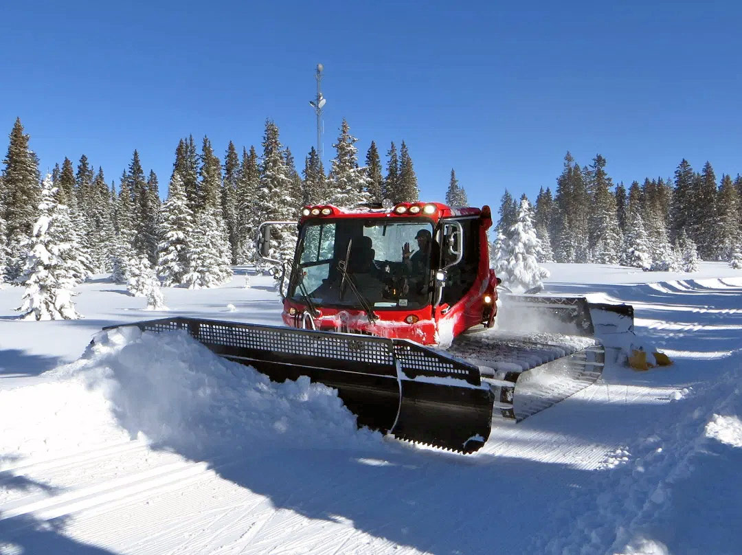 PistenBully 400, a snowcat used by Grand Mesa Nordic Council to groom ski trails on Grand Mesa in western Colorado.