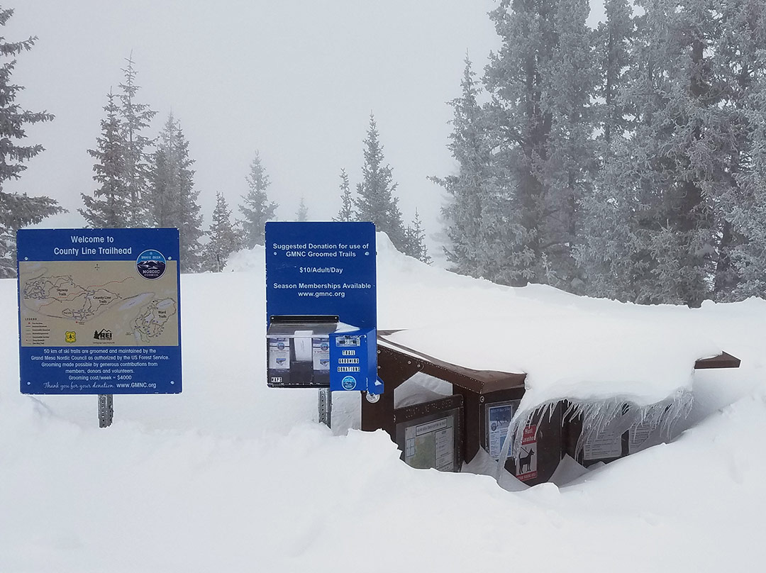 County Line Ski Trails Trailhead on Grand Mesa, Colorado
