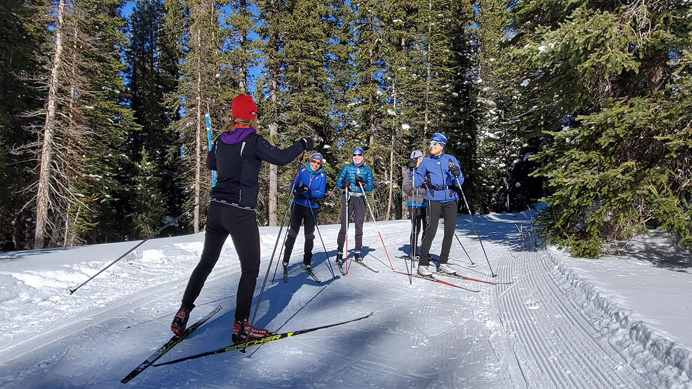 Women's ski clinic on Grand Mesa