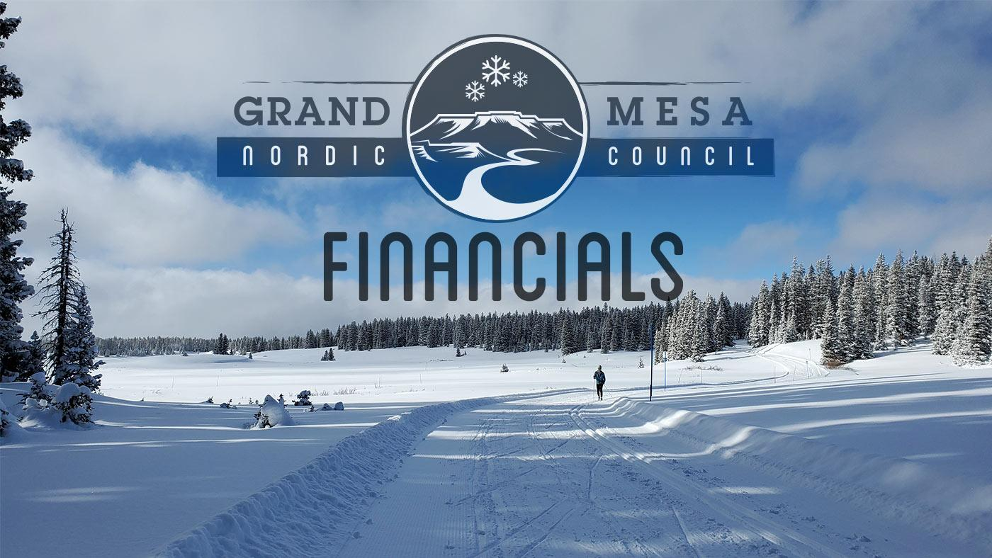 Financials of the Grand Mesa Nordic Council
