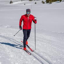 Cross country ski clinic instructor.