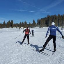 Skate skiing clinic