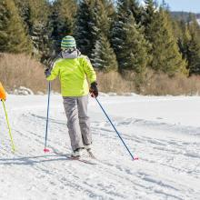 Children skiing